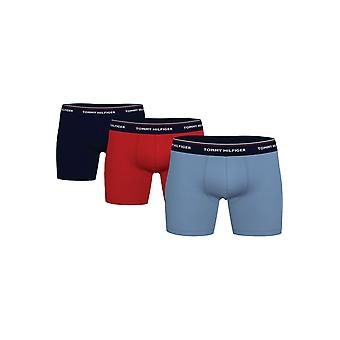 Tommy Jeans Boxer Brief 3-Pack (Prim Red/Desert Blue/Moon Blue)