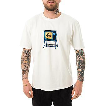 Men's T-shirt stussy rolling TV pig. dyed tee natural 1904672.natl