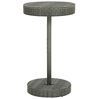 Tavolo da giardino grigio 60,5x106 Cm Poly Rattan