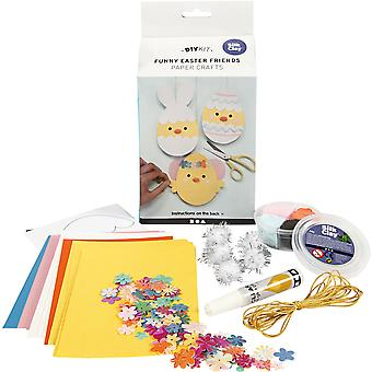 Funny Easter Friends Paper and Silk Clay Craft Kit for Kids