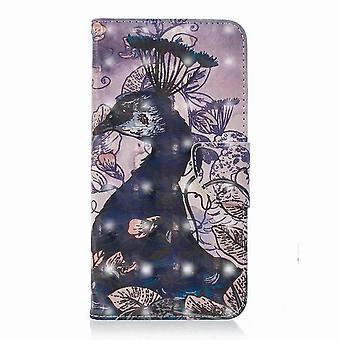 Butterfly pattern leather case for Huawei P20 Lite - Multicolored (#7)