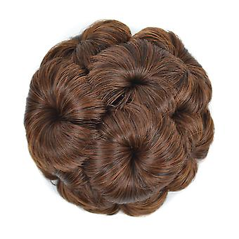 Nine Flower Wig Bun Chignons Women Comb Hair Piece Bun Hair Tail Bridal