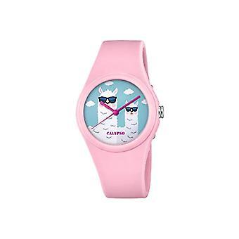 Calypso Analog Quartz Watch Girls with Plastic Strap K5789/3