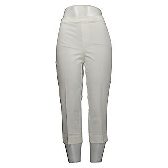 Isaac Mizrahi Live! Pantaloni Petite da donna dal vivo! Stretch Pull-On Bianco A251353