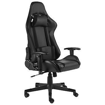 vidaXL Gaming Chair Draaibaar Zwart PVC