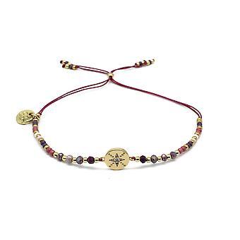 Boho betty goji pink gemstone & miyuki bead bracelet