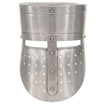 vidaXL keskiaikainen ritari kypärä antiikki kopio LARP hopea teräs