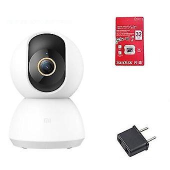 Ultra Hd 2k Smart Ip Camera Wifi Pan-tilt Night Vision 360 Angle Video Webcam
