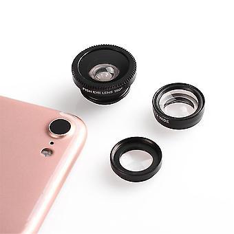 3 W 1 Przenośny klips Typ Mobile Fish Camera Obiektyw szerokokątny okrągły kształt
