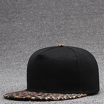 Miehet Syksy Flat Brim Hip Hop Lippis, Naisten Baseball Hattu (Ruskea)
