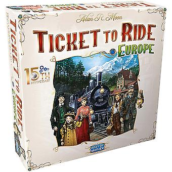 Ticket To Ride Europe Board Game 15th Anniversary Deluxe Edition | Family Board Game | Train Game | Ages 8 | For 2 To 5 Players | Average Playtime 30-