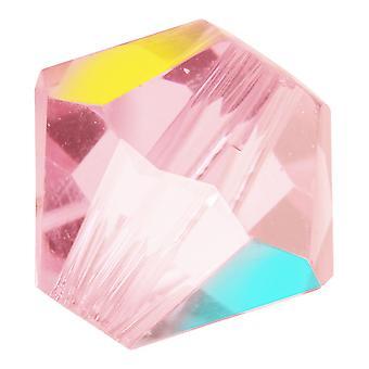 Preciosa Tšekin kristalli, Bicone Bead 4mm, 36 Pieces, Vaalea Ruusu AB
