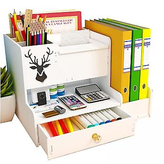 Office Desk Organizer, Plastic Pen Holder Desktop Storage Box For Student(Size 2)