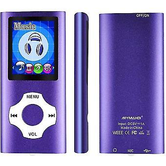 סגול 16g mp3 mp4 נגן מוסיקה עם מציג תמונות e-קורא קורא קול מקליט fm רדיו וידאו lc1103