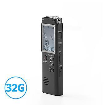 32GB Voice Activated Digital Audio Voice Recorder USB Pen Non Stop 70hr Recording PCM