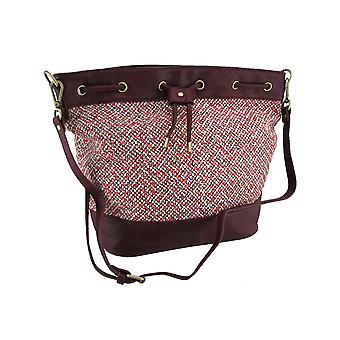 Tweed koord Bucket Bag w/verstelbare en verwijderbare riem