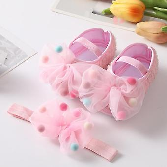 Baby First Walkers, Headband Bow-knot Soft Sole Shoes