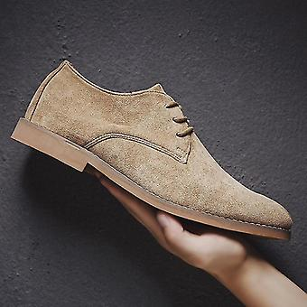 Men Casual Suede Oxford Leather Dress Shoe
