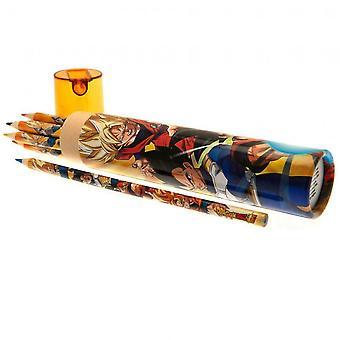 Dragon Ball Z-färgat blyertsset (förpackning med 12)