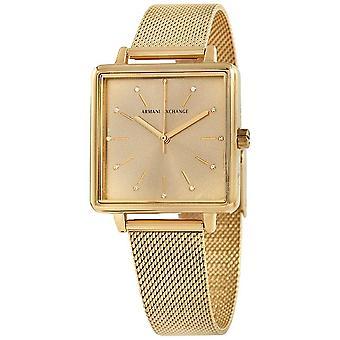 Armani Exchange Lola Quartz Gold Dial Ladies Watch AX5801