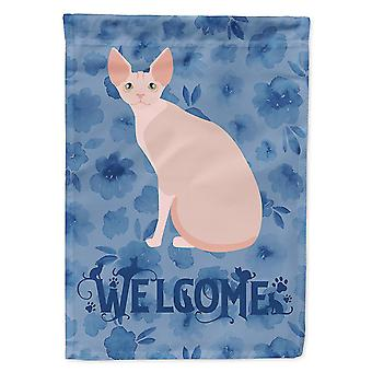 Flags windsocks carolines treasures ck5067chf sphynx #2 cat welcome flag canvas house size