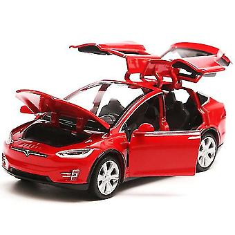 Toy cars tesla model x90 vehicle pull back cars toys red