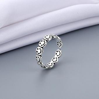 In der Größe veränderbarer Vintage-Schmuck aus antikem Silber, stimmungsaufhellende Fingerringe (A)