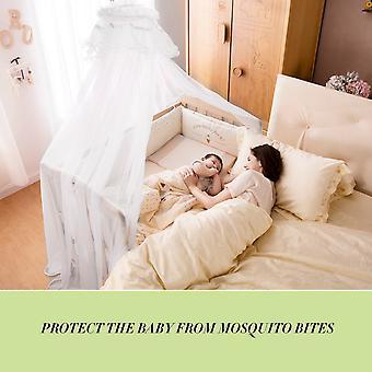 Baby sengetøy barneseng mygg netto bærbar størrelse rund småbarn mygg mesh nett