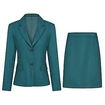 Mile Women's Casual Slim Two-piece Suit Solid Color Suit (top & Skirt) 5 Colors