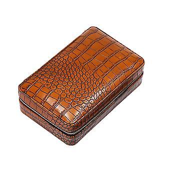 Zigarren-Aufbewahrungsbox, Ledertasche Aufbewahrungsbox, wasserdicht und langlebig (c)