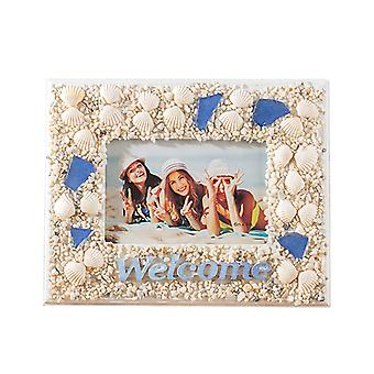 Shell Photo Frame Mirror Frame Photo Album Decoration 6-inch Table,6 Inch