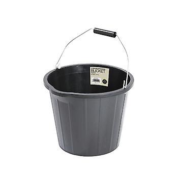 14L Strong Builders Water Bucket Black 3 Gallon Capacity