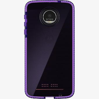Tech21 Evo Check Case for Moto Z Droid - HopeLine Purple