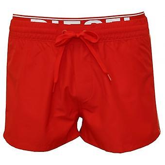 Дизель море плавать шорты с двойной пояса, красный/белый