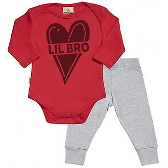 Verwend rotte Lil Bro Babygrow & Jersey broek Outfit Set