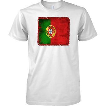 Portugal Grunge Grunge Effekt Flag - Kids T Shirt