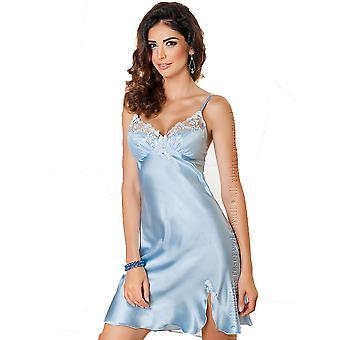Irall Linda Sky Blue Satin Nightdress