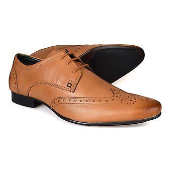 Silver Street London Fleet Mens Tan Leather Formal Shoes