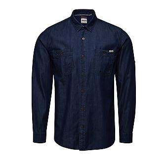 Jack and Jones Lakeport Arbeiter dunkelblauen Casual Hemd