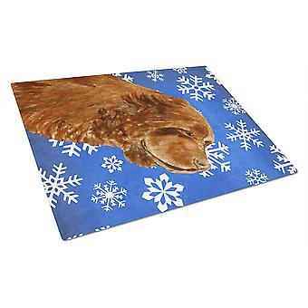 Sussex Spaniel vinter snefnug ferie glas skære bord store