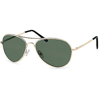 Bling metal sunglasses - pilot gold / grey
