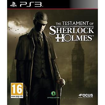 Das Testament von Sherlock Holmes (PS3) - Neu