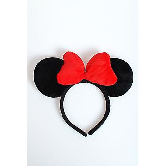 Haar-Accessoires Minnie Mouse Ohren mit roter Schleife Luxe