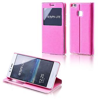 Booktasche venster roze voor Huawei Y6 / 4A eren