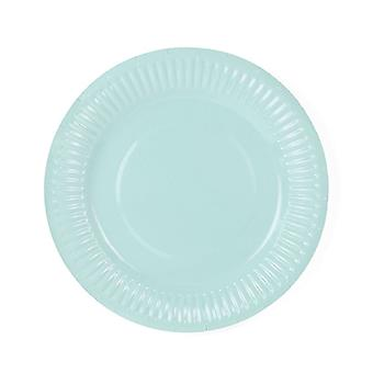 Turquoise Paper Party Plates 18cm Dino Party Pack of 6