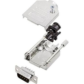 encitech DTZK09-DMP-K 6355-0002-21 D-SUB PIN Strip set 180 ° antal stift: 9 Lödskopa 1 set