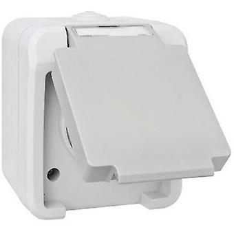 Peranova 102435 Wet room switch product range PG socket Pera Light grey, Dark grey