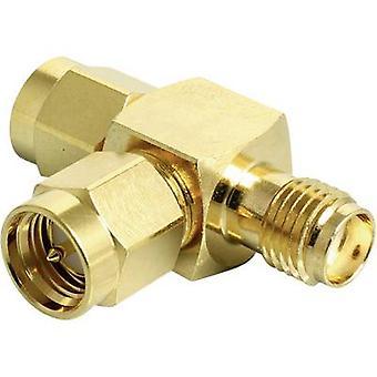 Delock Wi-Fi aerials Y adapter [2x SMA plug - 1x SMA socket] 0 m Gold