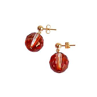 Boucles d'oreilles Gemshine Plaqué or rouge MADE WITH SWAROVSKI ELEMENTS®