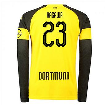 2018-2019 Borussia Dortmund Home Long Sleeve Puma Shirt (Kagawa 23) - Kids